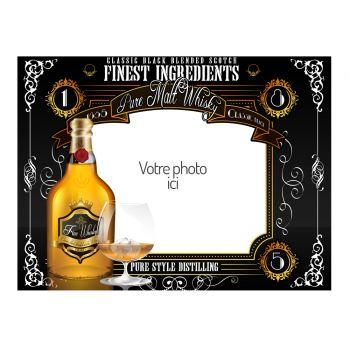 Dekor auf A4 Zucker Dekoration Whisky zu personalisieren