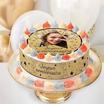 Easycake Kuchen-Kit personnalisiert Happy Birthday Black