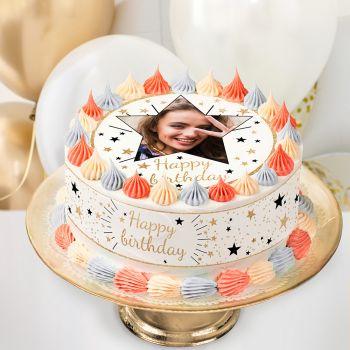 Easycake Kit für personnalisiert Happy Birthday Gold