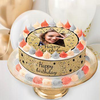 Easycake Kit für personnalisiert Happy Birthday Schwarz