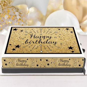 Easycake Kit Happy Birthday schwarz A4