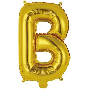 Mini Ballon alu Buchstabe B gold