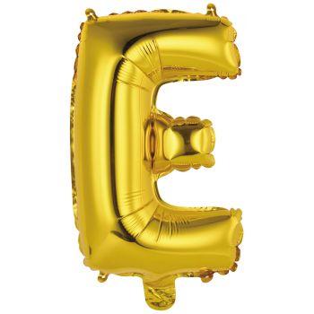 Mini Luftballon Alu Buchstabe E Gold