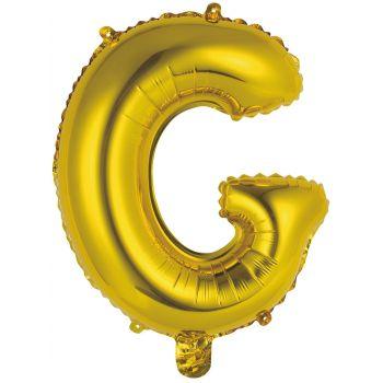 Mini Ballon alu Buchstabe G gold