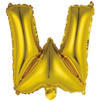 Mini Luftballon Alu-Brief W Gold