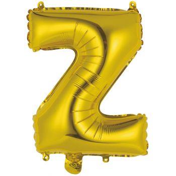 Mini Luftballon Alu Buchstabe Z gold