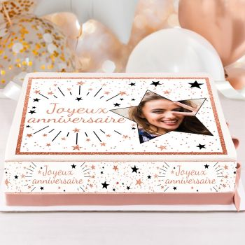Easycake Kuchen kit personnalisiert Happy Birthday pink gold