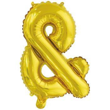 Mini Luftballon Alu & Gold