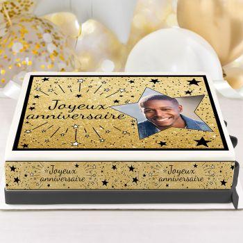 Easycake Kit für Kuchen personnalisiert Happy Birthday Black