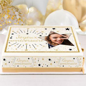 Easycake Kuchen-Kit personnalisiert Happy Birthday gold