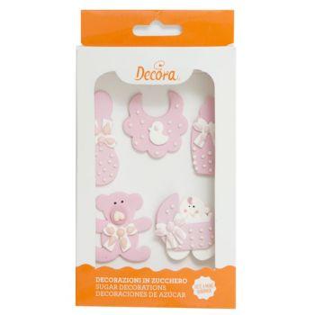 5 Zucker dekoriert Baby-Kinderzimmer rosa
