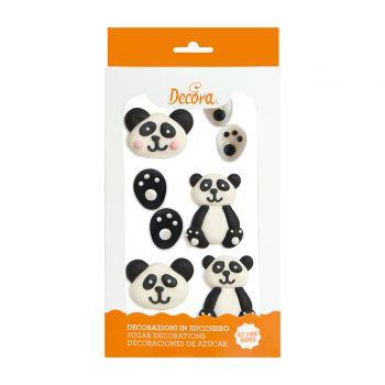 9 Dekore aus Panda-Zucker