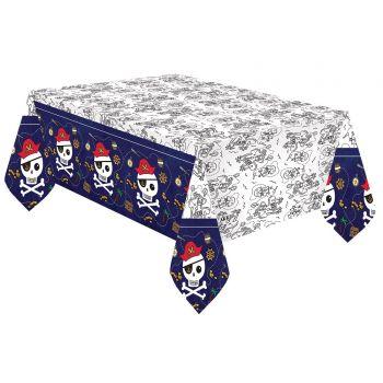 Tischtuch Aus Papier Piraten rot