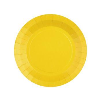 10 kleine runde, kompostierbare, 10 Platten, die in gelber Form kompostierbar sind
