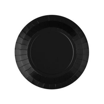10 kleine runde, kompostierbare Teller schwarz