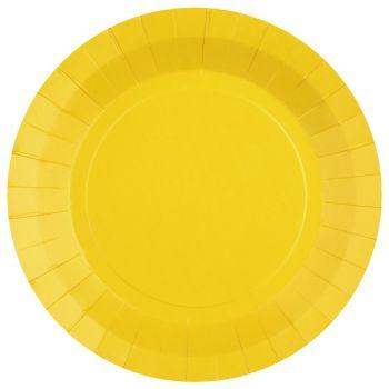 10 runde, kompostierbare, 10 tische, die sich in der farbe gelben