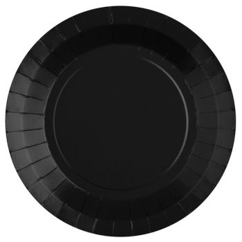 10 runde, kompostierbare Teller schwarz