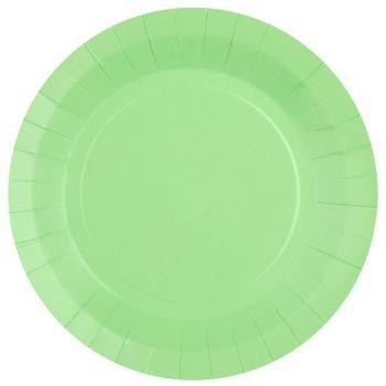 10 runde, kompostierbare Teller rainbow mint