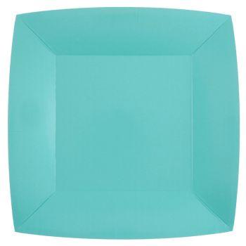 10 quadratische quadratische Tischlüfte regenblau