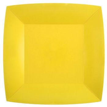 10 quadratische, kompostierbare, 10 geschnittene, gelbe, 4-4-000-000