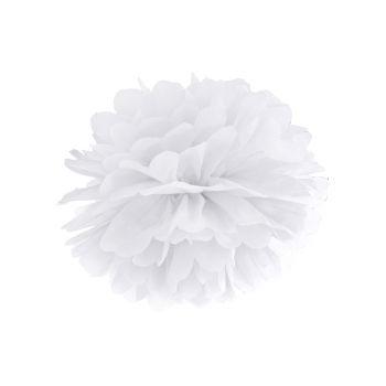 Pompon aus weißem Papier Ø35cm