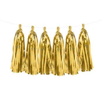 12 Fransen aus metallisiertem Gold