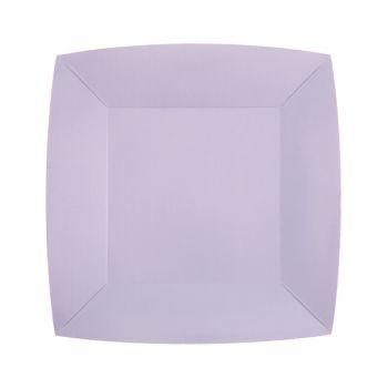 10 kleine quadratische, kompostierbare Teller rainbow parma