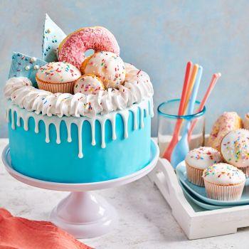 Schmelzende Zuckerguss Funcakes weiß