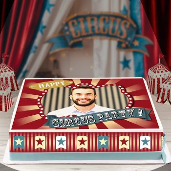 Easycake Kit für Kuchen personnalisiert zirkus Vintage A4