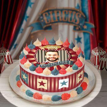 Easycake Kit für Kuchen personnalisiert zirkus Vintage JA