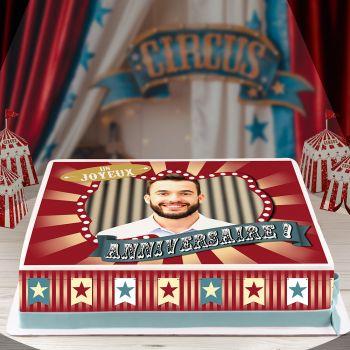 Easycake Kit für Kuchen personnalisiert zirkus Vintage A4 JA