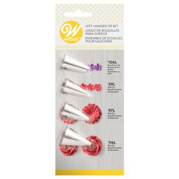 4 Wilton Spezial-Linkshänder Blumenhülsen