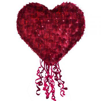 Pinata rot Herz-Pullover