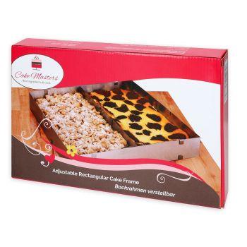 Kuchenform einstellbarer rechteckiger Rahmen H 5cm