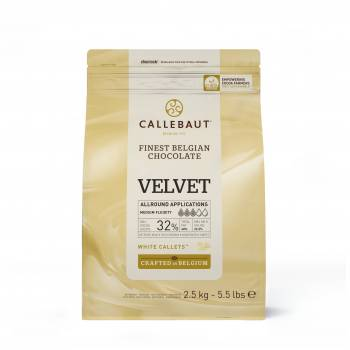2.5KG Weiße Schokolade Galet Velvet Callebaut
