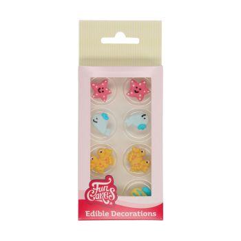 8 Dekore aus Meer Zucker Funcakes