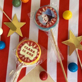 10 Lutschen personnalisiert Dekor zirkus