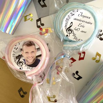 8 Marshmallow Lutschen personnalisiert Musik