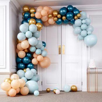 200 luftballon teal and gold Luxus-Arche-Kit