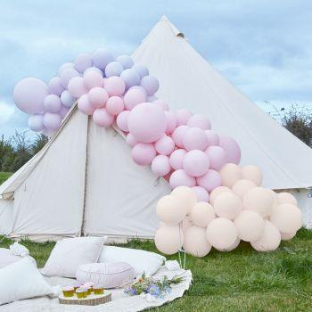 200 luftballon pink and purple Luxus-Arche-Kit