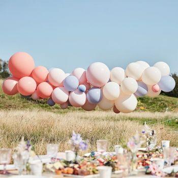 60 luftballon pastellfarbene Bogen-Kit