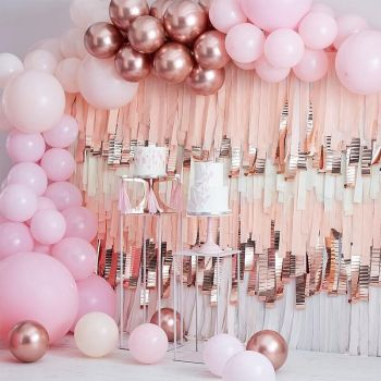200 luxus 200 luftballon pink and gold rosa