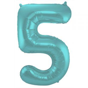 Luftballon riese figur aqua pastell matt N°5 86cm