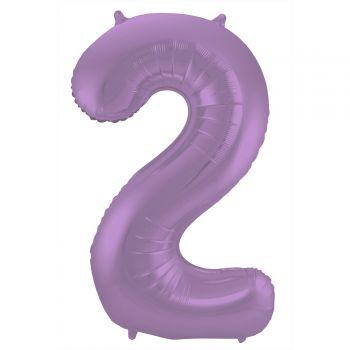 Luftballon riese figur violet matt N°2 86cm