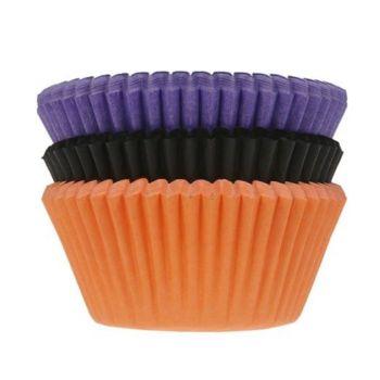 75 backförmchen Halloween Color Cupcakes