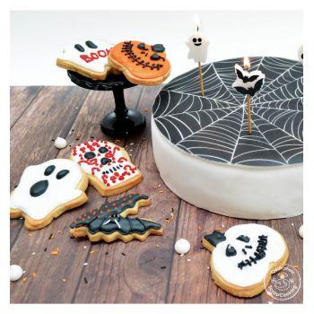 Halloween-Spinne-Zuckerteig rolle Scrapcooking