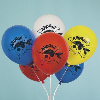 8 luftballon Piraten farbe