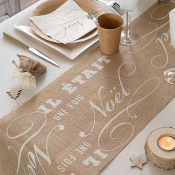 Weg des Tisches Jute Es war einmal weiße Weihnachten