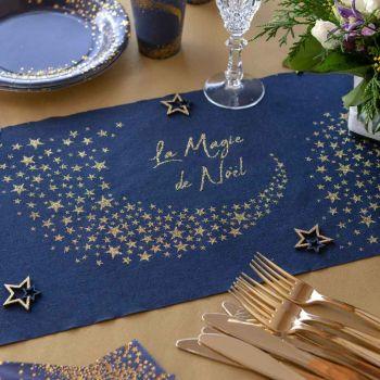 Tischpfad Die Magie des blauen Weihnachtsfestes