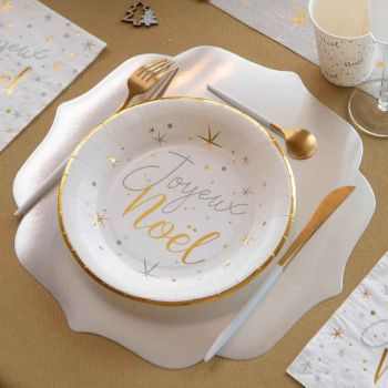 6 Tischset Silber Metallic